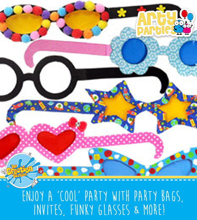 Kids party entertainment funly paper glasses