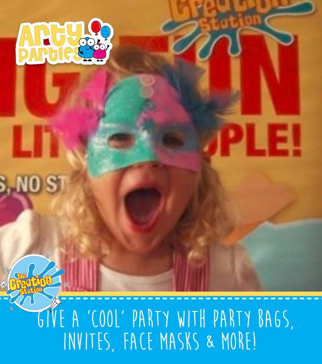 Kids party entertainment masks making