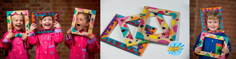 Creation Station wooden frames kids parties