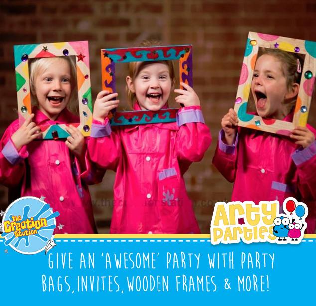Kids party entertainment wooden treasure frames