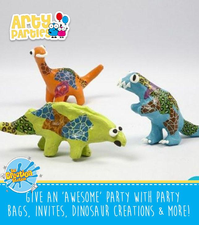 Kids party entertainment dinosaur creations