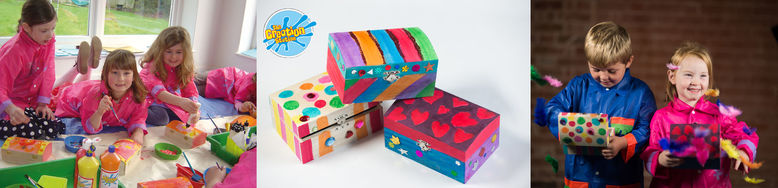 Creation Station treasure boxes birthday party copy