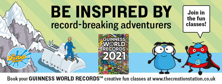 Creation Station Adventurers inspired by GUINNESS WORLD RECORDS
